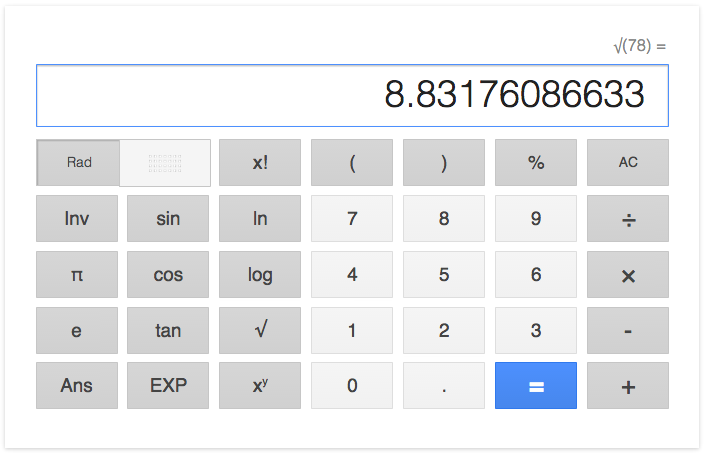 Google's Calculator
